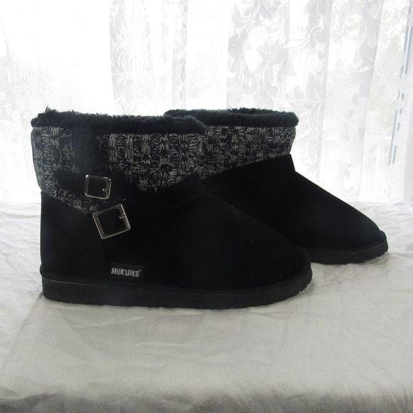 Muk Luk Women's booties Size 9 Black